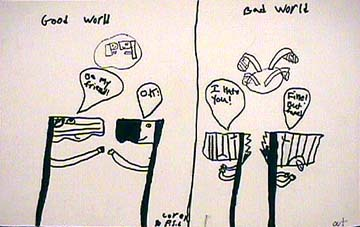 Editorial cartoon Good World