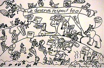 Editorial illustration Respect