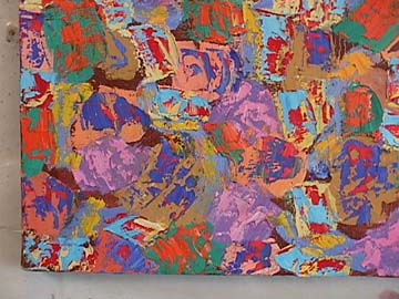 Richard Mock detail of abstract painting Rapture