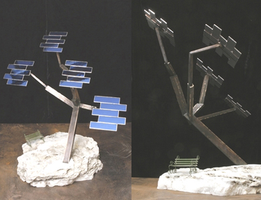 Rein Triefeldt maquette for Solar Tree