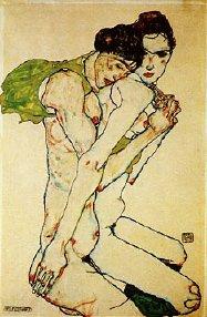 Egon Schiele drawing Freundschaft