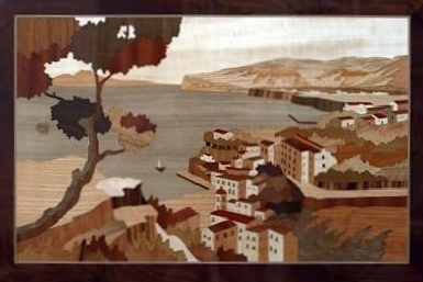 inlaid wood picture of Sorrento