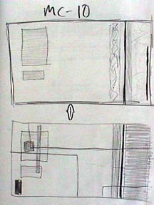 Bellanca's notebook composition drawing
