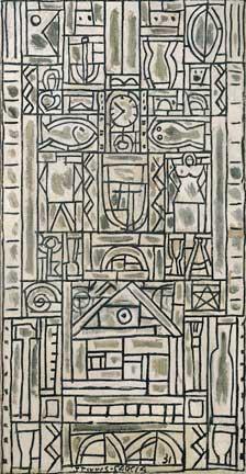 Torres-Garcia constructivist painting