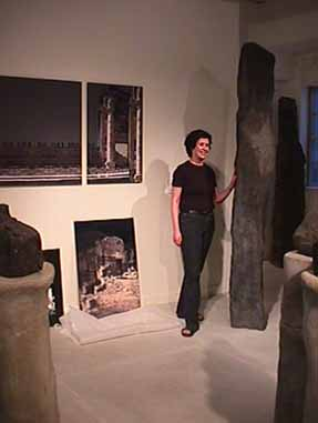 Sculptor Tova Beck-Friedman in her studio