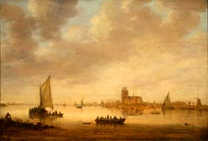 Van Goyen landscape painting