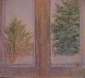 Vivian Tsao oil painting on canvas Pine and Maple