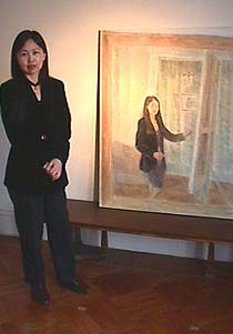 Artist Vivian Tsao with her self portrait