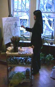 Vivian Tsao at her easel