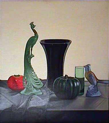 Laura SHECHTER painting Still Life with Two Birds