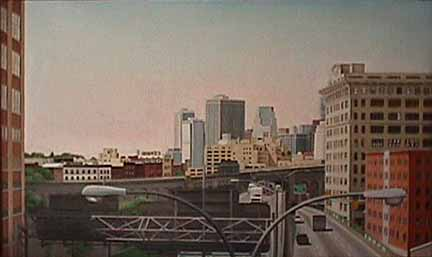 Laura Shechter cityscape approach to brooklyn bridge