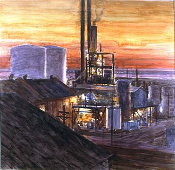 Bill Murphy oil refinery painting Bayonne Arabian Nights