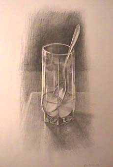 Bill Murphy still life drawing Glass of Water