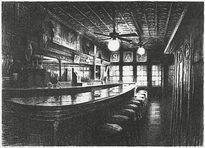 Bill Murphy lithograph Paramount Bar and Grill
