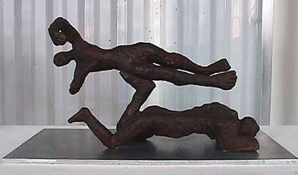 Carol Bruns bronze sculpture Spiraling