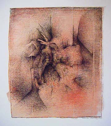 Catalina Chervin ink wash drawing Peque�a balada 57