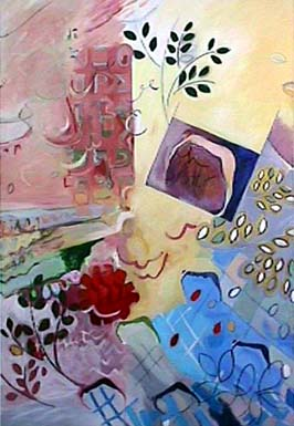 Diane Churchill expressionist painting Oh Sister