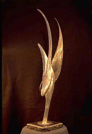 Edward Walsh stainless steel sculpture Wind Bird 