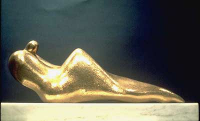 Edward Walsh bronze sculpture Reclining Male