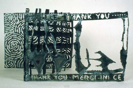 Janet Goldner hinged steel book Thank You