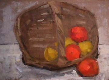 Wattson oil sketch Fruit Basket