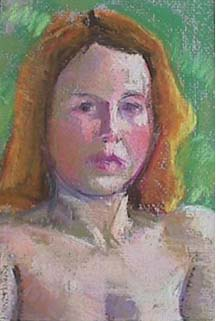Kate Wattson portrait pastel Cynthia