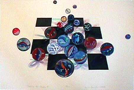 Lisa DINHOFER print entitled Loosing My Marbles #15