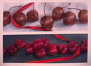 Lisa DINHOFER painting Chocolate Cherries