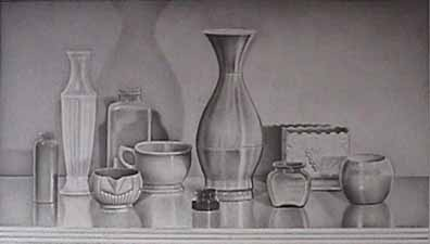 Laura SHECHTER drawing Still Life with Bronze Cup