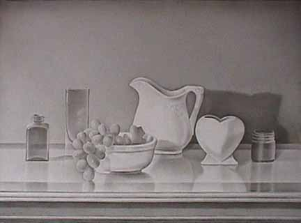 still life drawing. Laura SHECHTER drawing Still