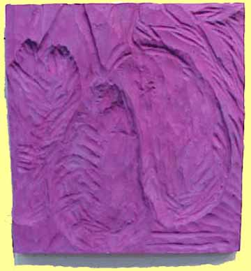 Nancy Azara wood carved panel Figs