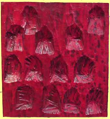 Nancy Azara wood carved panel 13 Small Hands