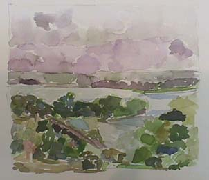 Nancy Van Deren watercolor Vista B