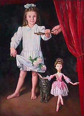 Patricia Hansen painting of young girl Dancers