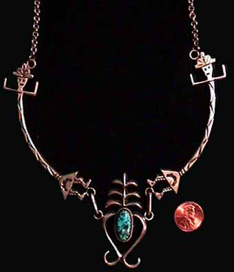 Navajo Indian Yei Necklace
