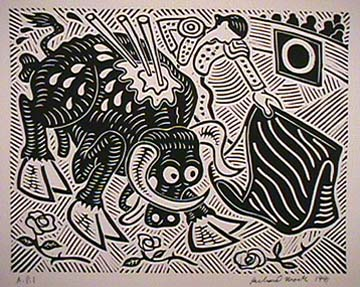 Richard Mock original print La faena