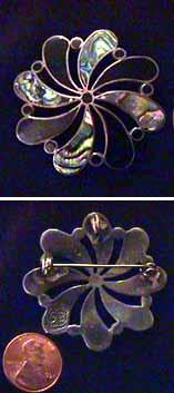 vintage mexican silver ballesteros pin/pendant