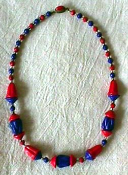Czech Glass Necklace Circa 1933