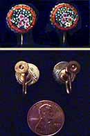 Micro-Mosaic Floral Earrings