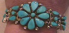 small turquoise cluster bracelet
