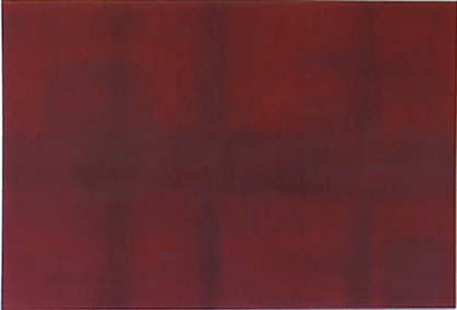 Todd Bellanca large abstract grid painting Red City