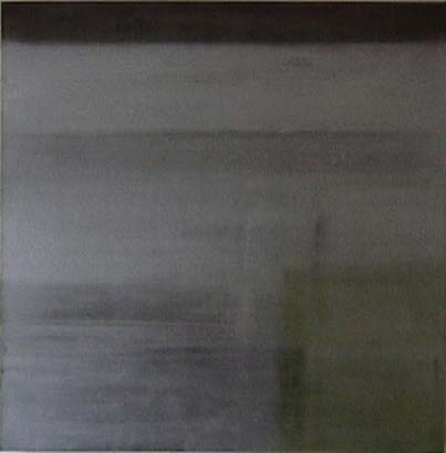Todd Bellanca  silver suqayre abstract painting  Untitled Square