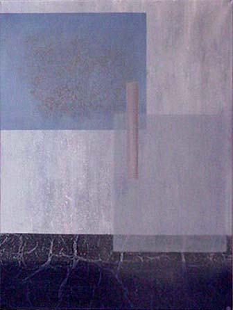 Todd Bellanca  blue abstract painting Though Only for a Moment