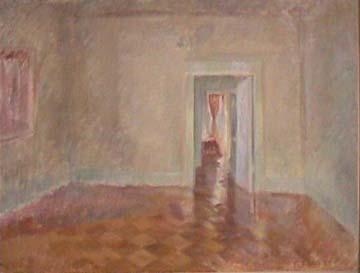 Vivian Tsao interior painting A Bluish Hallway