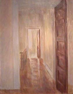 Vivian Tsao painting Hallway with Brown Doors
