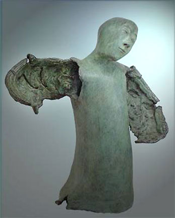 Annemarie Slipper bronze sculpture Dancing Angel