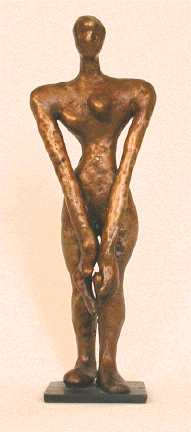 Carol Bruns small bronze female figure Clam