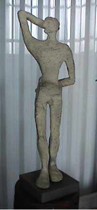 Carol Bruns small bronze Party Man
