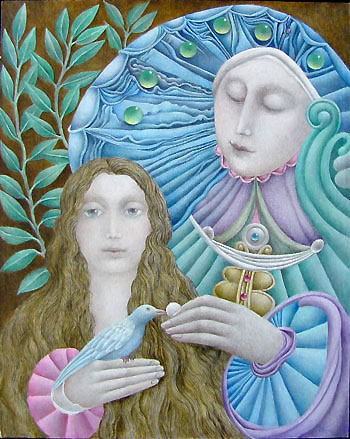 Gary Slipper painting Clairvoyant's Daughter II