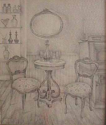 Hart  drawing 19th Century Parlor